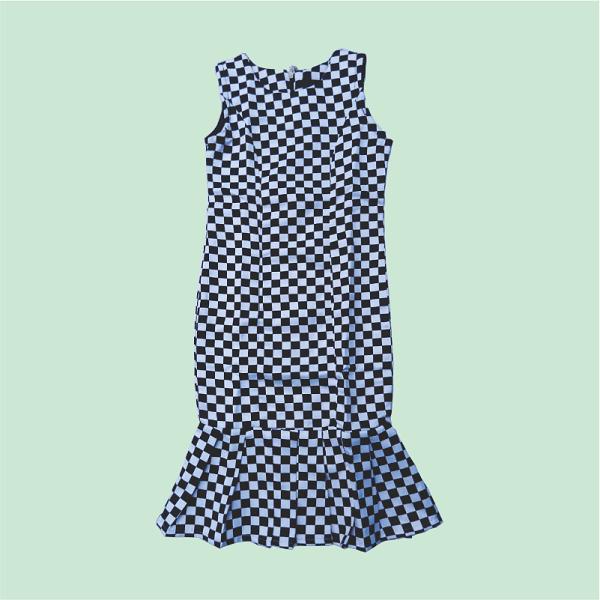 Zucchini_Black_Checkered_Lombodi_Dress