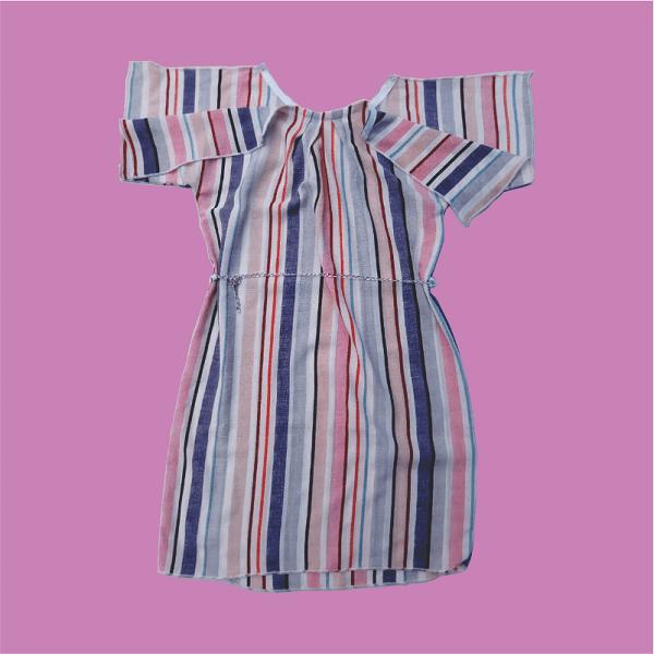 Zucchini_Open_Sleeve_Stripped_Dress_Back