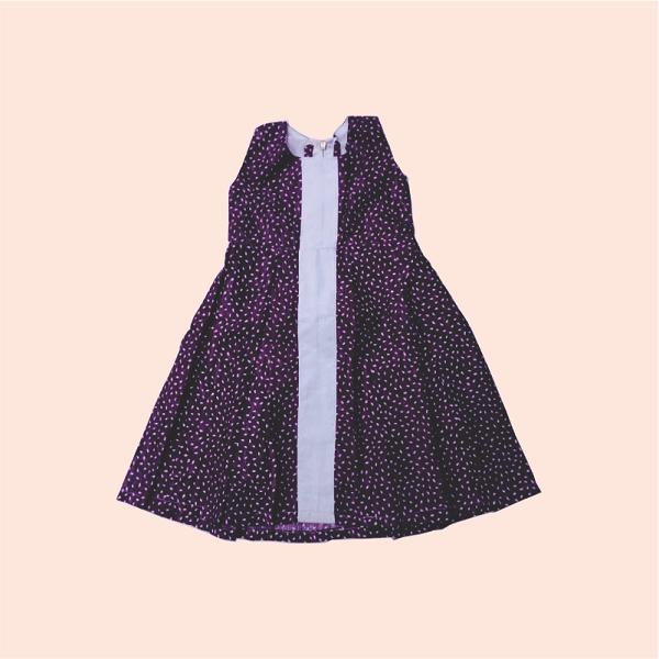 Zucchini_Afrik_Purple_White_Dress