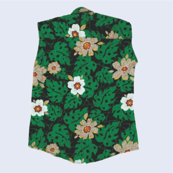 Green Flowery Shirt_Black Pant_3