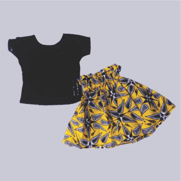 Net Top_Ruffled Band Skirt