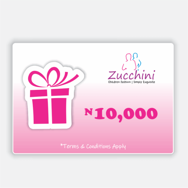 Zucchini Gift Card 10