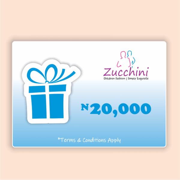 Zucchini Gift Card 20