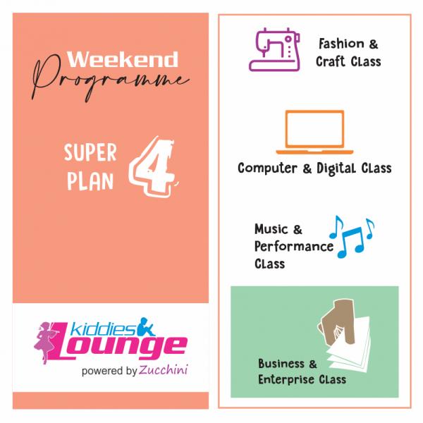 Zucchini Lounge Weekend Programme Super 4